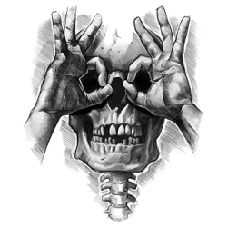 TEMP-LUCTUS SKULL HANDS (DARKS ONLY)