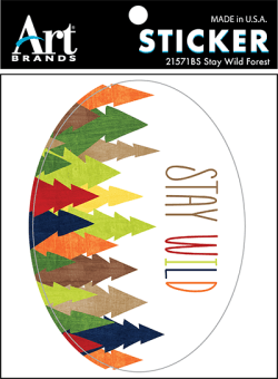 STAY WILD FOREST STICKERS