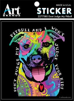 DON'T JUDGE PITBULL STICKERS