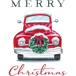 MERRY CHRISTMAS TRUCK WREATH