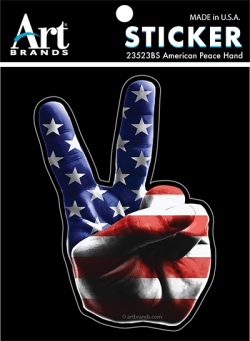 AMERICAN PEACE HAND STICKERS