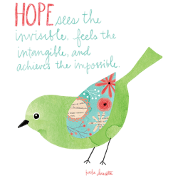 HOPE WATERCOLOR BIRD