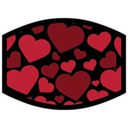 HEARTS ON BLACK DYETRANS MASK TRANSFERS