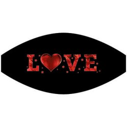 LOVE HEARTS MASK TRANSFERS