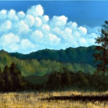 "From a tutorial by Tim Gagnon 15"" x 30"" acrylic on canvas"