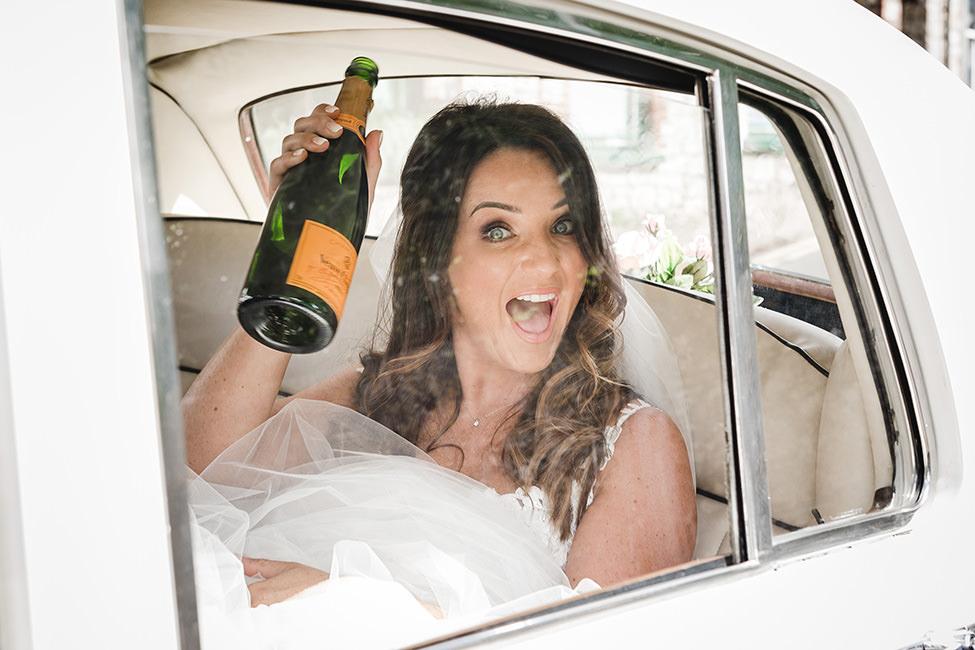 happy bride south wales