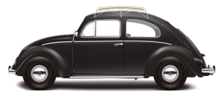 1953 VW DeLuxe Sedan - Black NO TXT TRANS PNG 10k