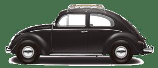 1953 VW DeLuxe Sedan - Black NO TXT TRANS PNG 10k