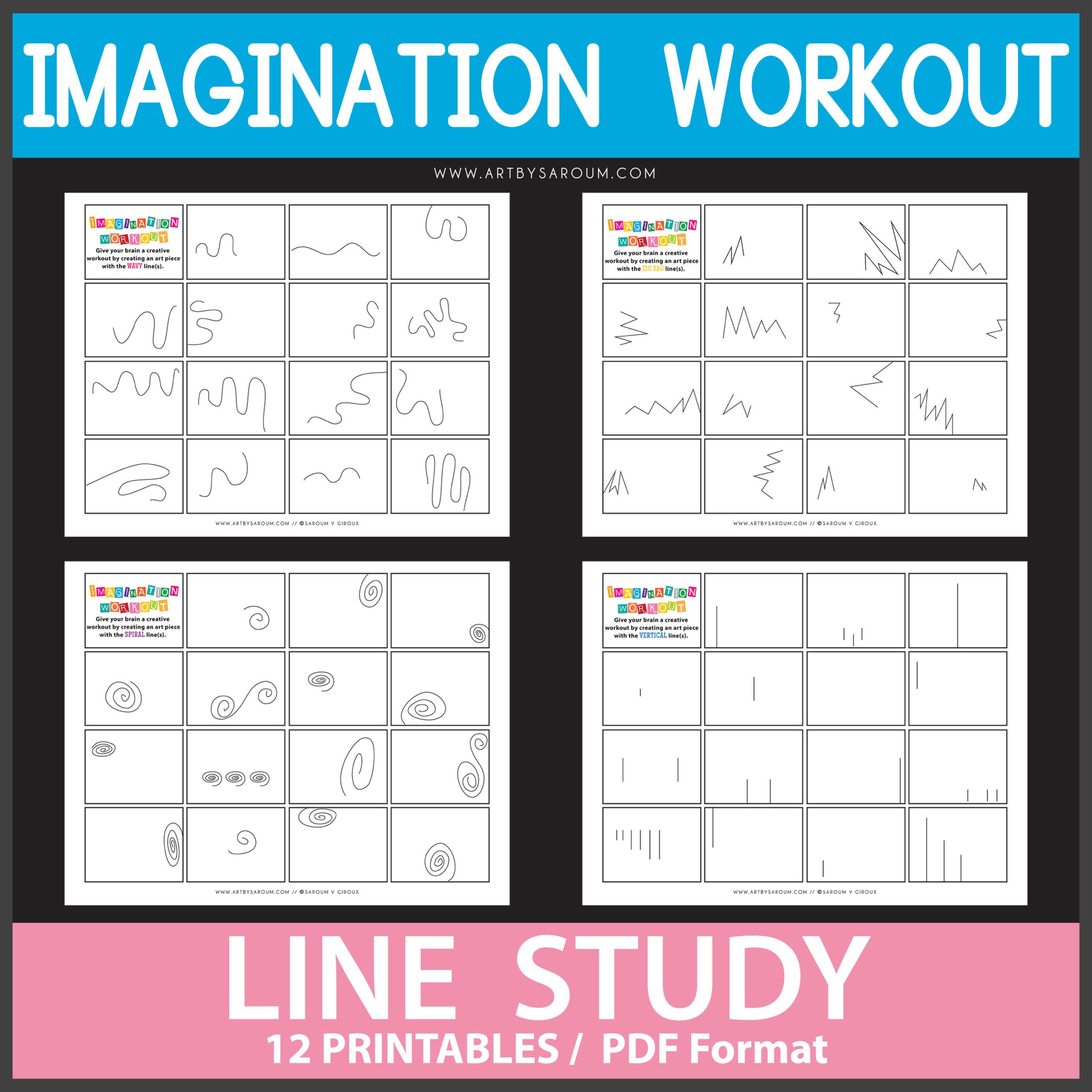 Lines Study Imagination Workout