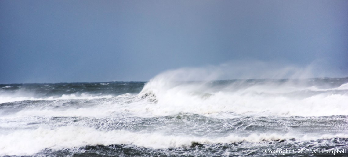 Nor'easter blowing ashore