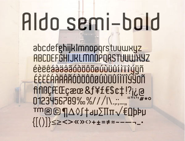 Aldo Free for Commercial use Font