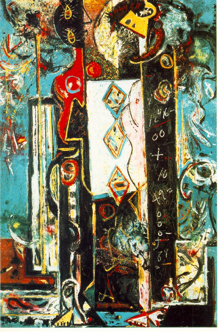 Jackson Pollock, 'Male and Female', 1942 - taken from the Artchive