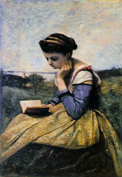 Woman Reading in a Landscape