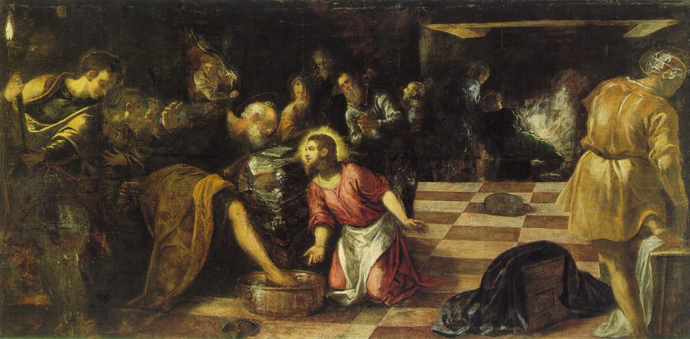 Jesus washing His disciples\' feet