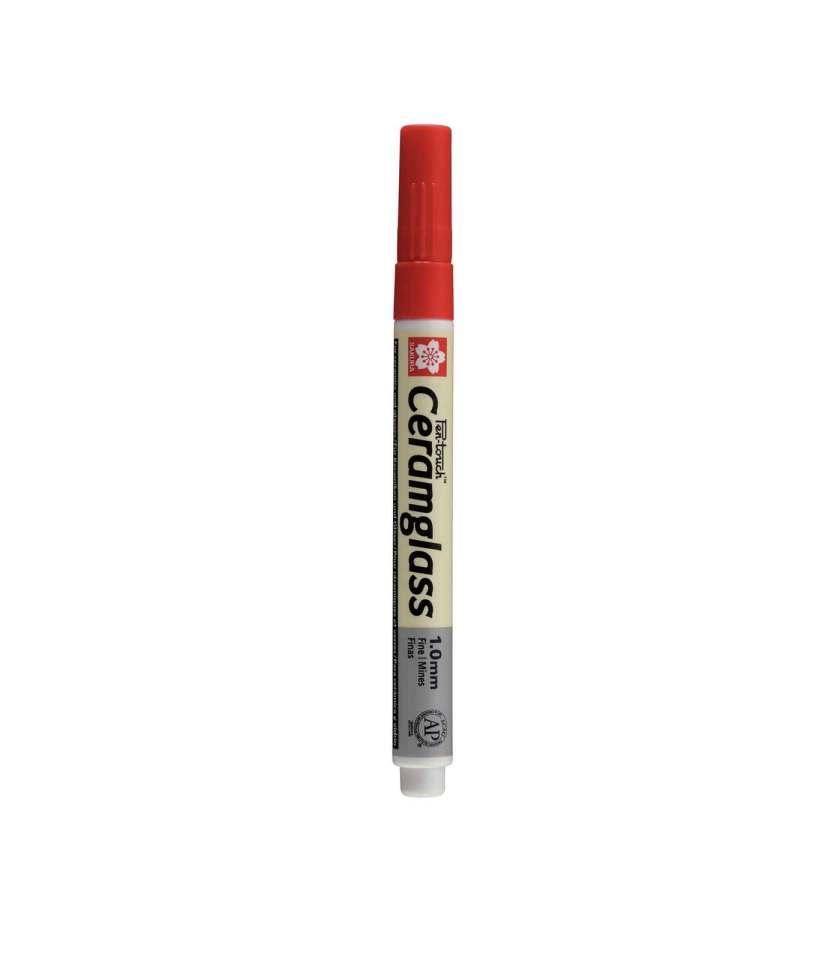 Markadoros-PenTouch-CeramGlass-1mm-Red-Sakura-Art&Colour