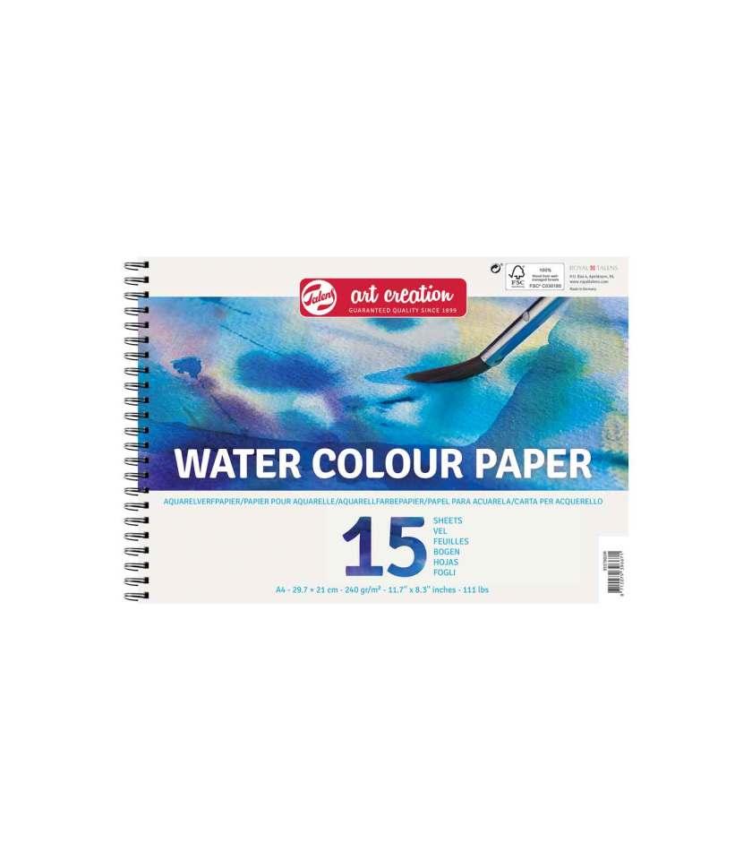 Mplok-A4-Akourarela-Neroxromata-WaterColour-Paper-Talens-ArtCreation-Art&Colour