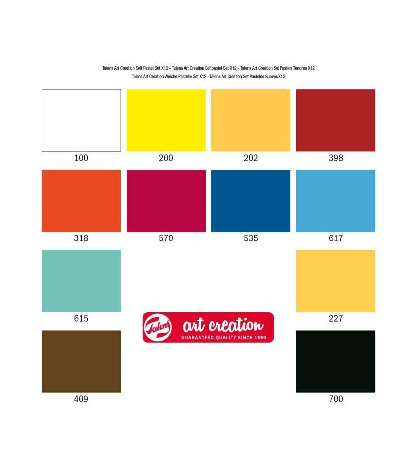 Set-12-Soft-Pastels-Art-Creation-Talens-Art&Colour-Chart