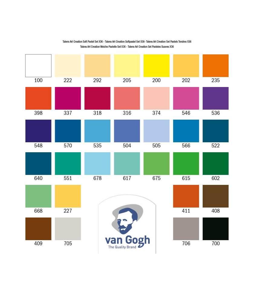 Set-36-Soft-Pastels-Art-Creation-Talens-Art&Colour-Chart