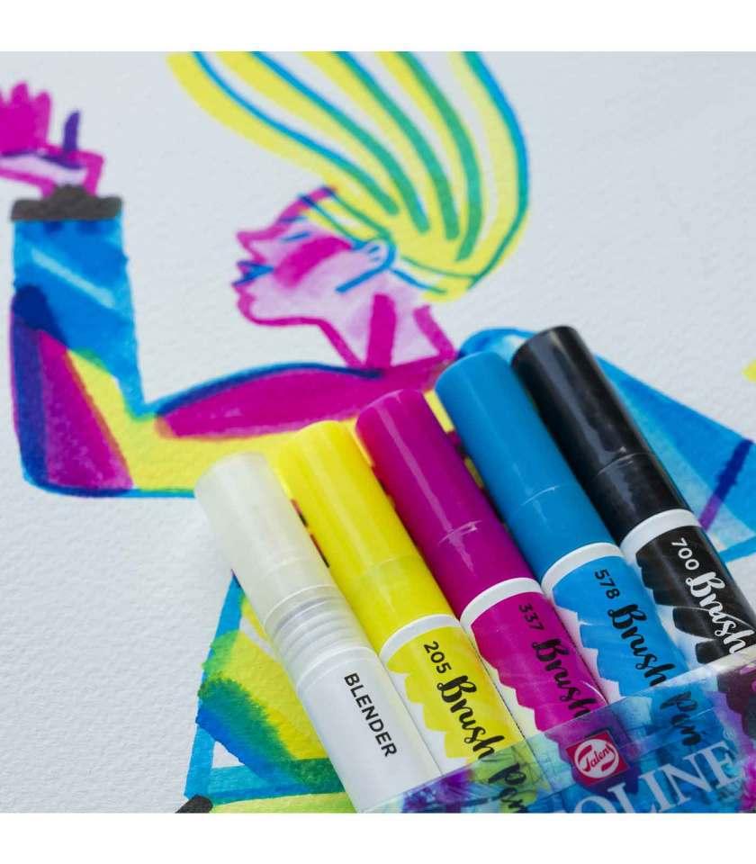 set-5-markadoroi-ecoline-brush-pen-primary-Talens-Art&Colour-3