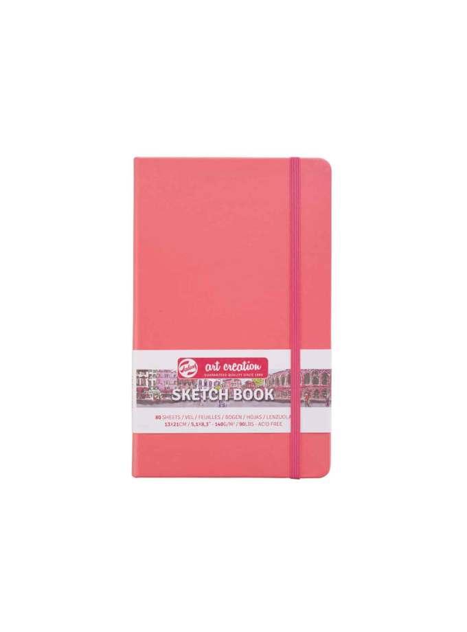 sketchbook-A5-CoralRed-ArtCreation-Talens-Art&Colour
