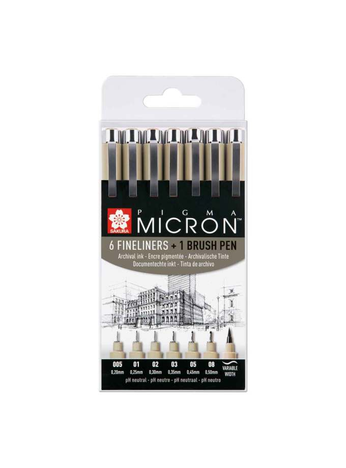 40-POXSDK7B-set-6+1-pigma-micron-fineliners-Sakura-Art&Colour