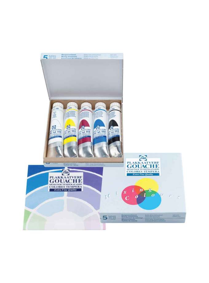 set-5-20ml-gouache-extra-fine-talens-Art&Colour