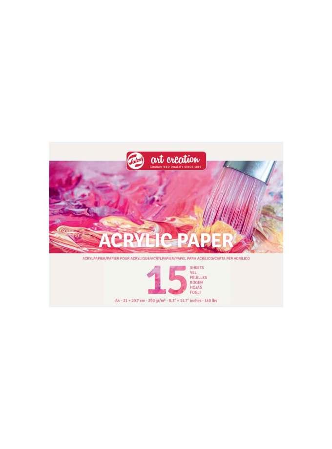A4-Mplok-Zografikis-Acrylic-Paper-Talens-Art-Creation-15-Pages-21X29.7cm-290gr-Art&Colour