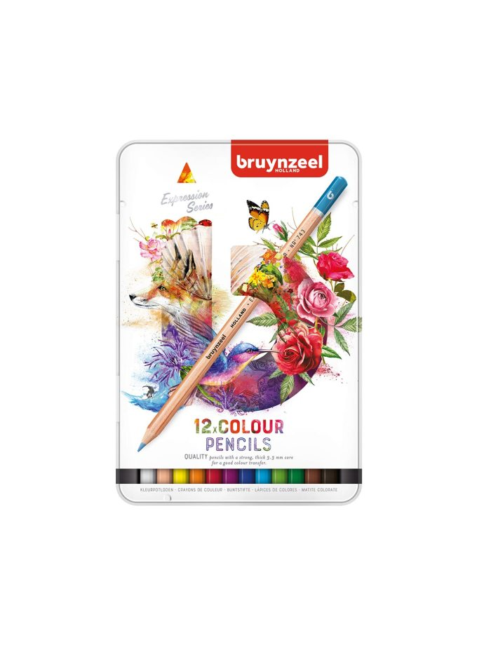 Bruynzeel-12Color-Pencils-Expession-Art&Colour