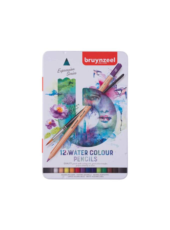 Bruynzeel-12Water-Color-Pencils-Expession-Art&Colour