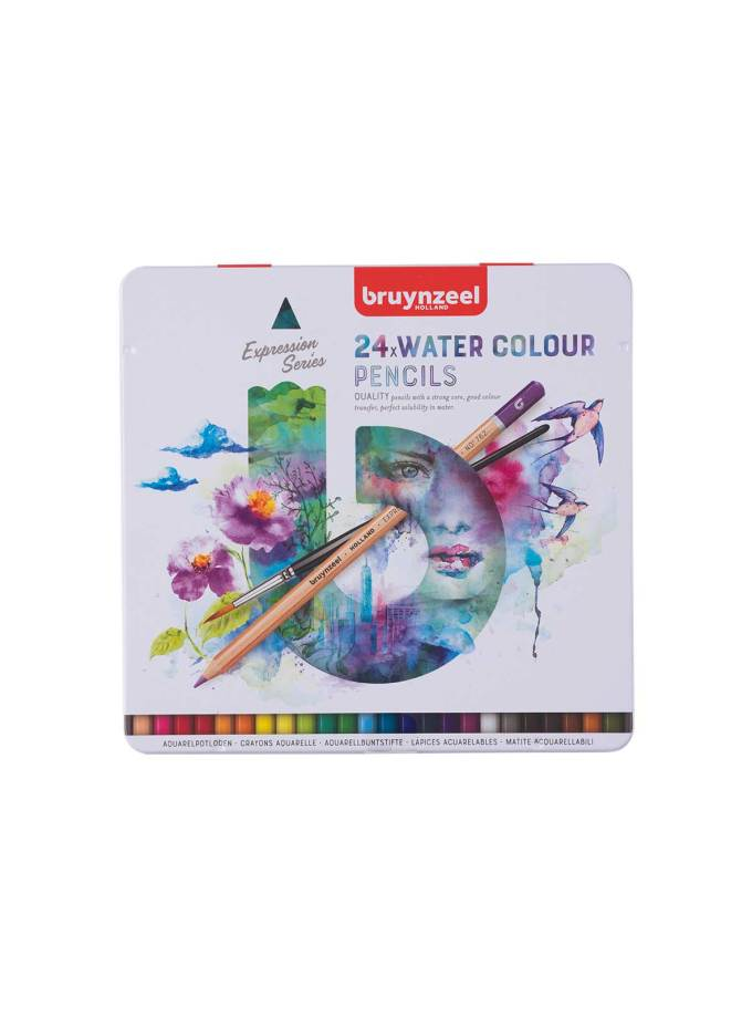 Bruynzeel-24Water-Color-Pencils-Expession-Art&Colour