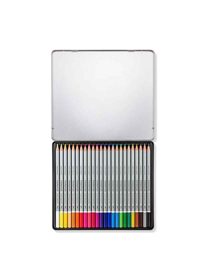 Set-24-moluvia-akouarelas-karat-aquarell-125-Staedtler-Art&Colour-OpenCase