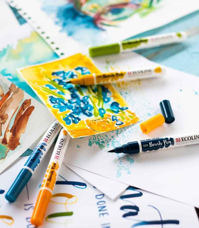 Set-5-Ecoline-Brush-Pen-Van-Gogh-Museum-Talens-Art&Colour