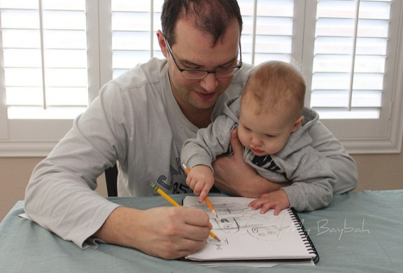 Drawing with Daddy