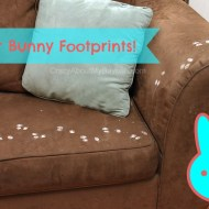 How to Make Easter Bunny Footprints