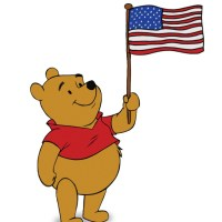 Happy 4th of July from Pooh