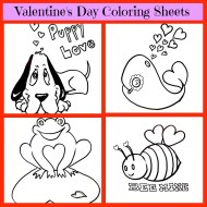 Valentine's Day Coloring Sheets | Free Valentine Printable