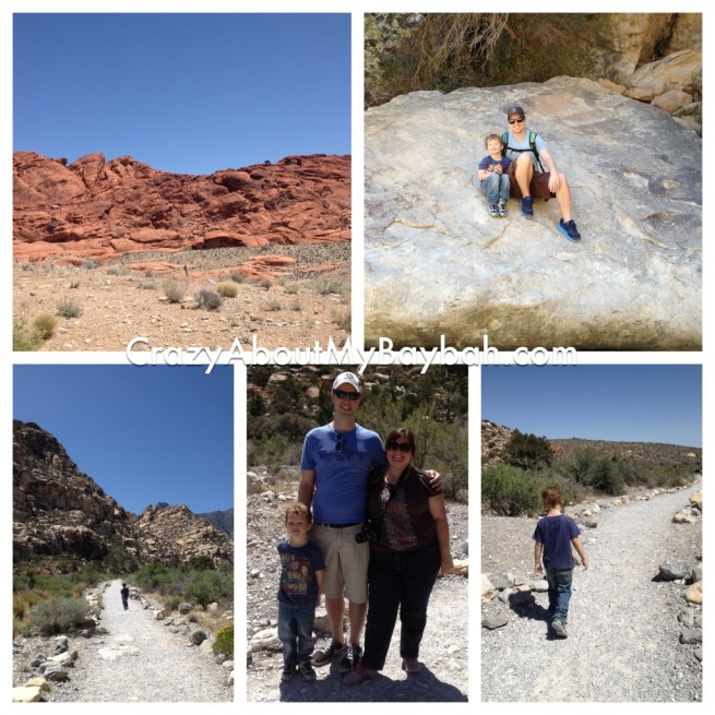 Hiking at Red Rock Canyon in Las Vegas, NV