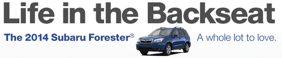 Life in the backseat: Subaru Forester
