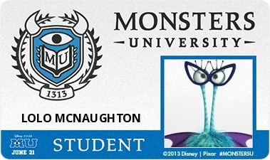 Create Your Own Monsters University Monster #MonstersUPremiere