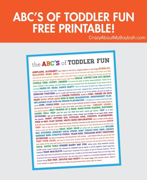 Toddler Activities - Free #Printable