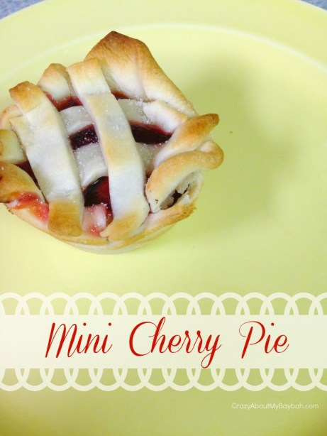 Mini Cherry Pies #Recipe