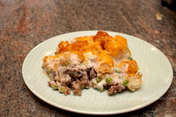 Cheesy Tater Tot Casserole | Quick and Easy Week Night Dinner #Recipe