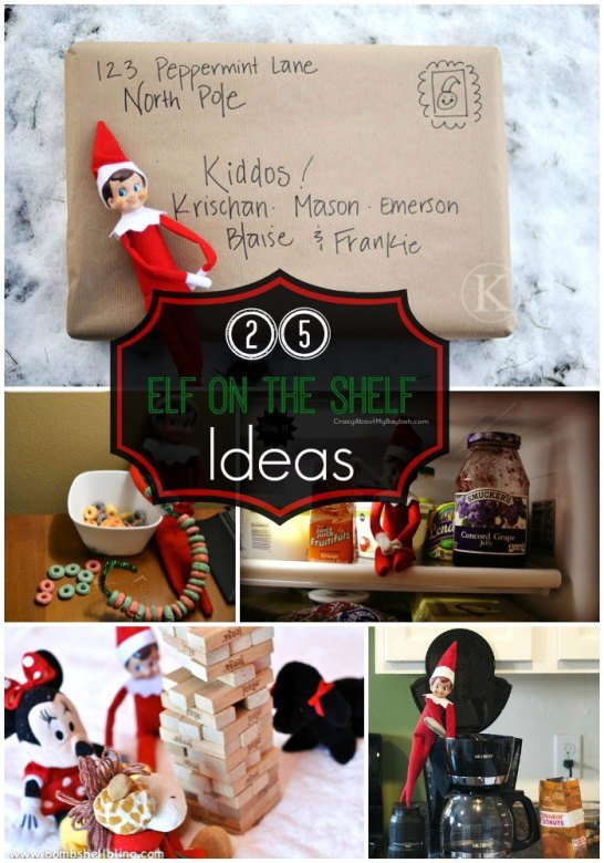 Elf on the Shelf Ideas #Elfontheshelf #Christmas