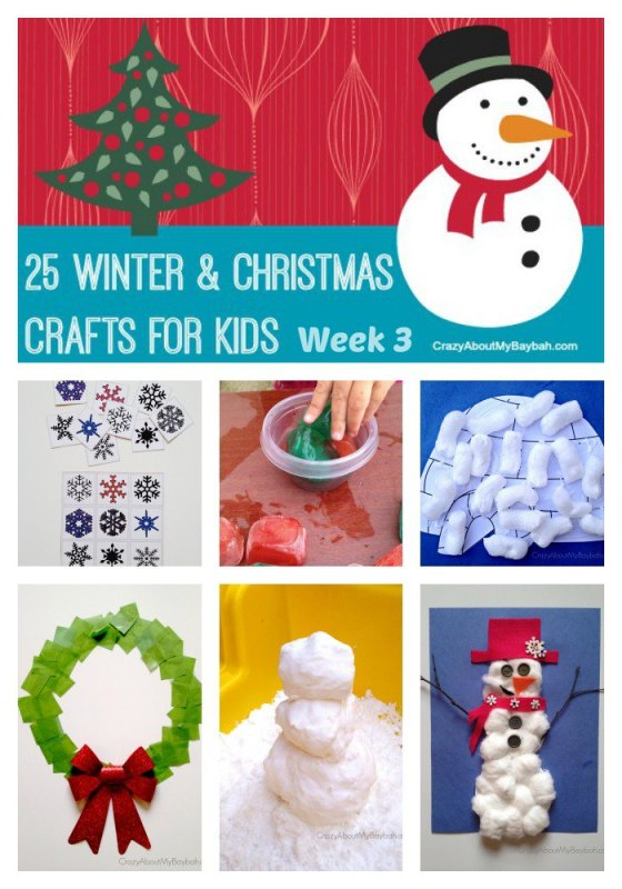 25 Winter and Christmas Crafts for Kids Week 3 #Toddlers #Preschoolers #Homeschool
