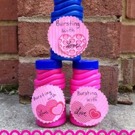 Bursting with Love Bubbles | Candy Free Valentines for Kids