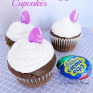 Cadbury Egg Filled Easter Cupcakes Recipe