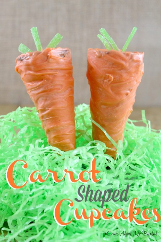 Carrot Shaped Cupcakes Perfect for Easter