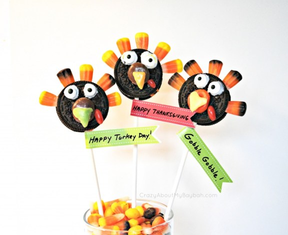 Oreo Turkey Pops - Thanksgiving Treats for Kids