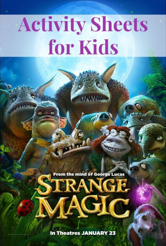 Strange Magic Activity Sheets for kids
