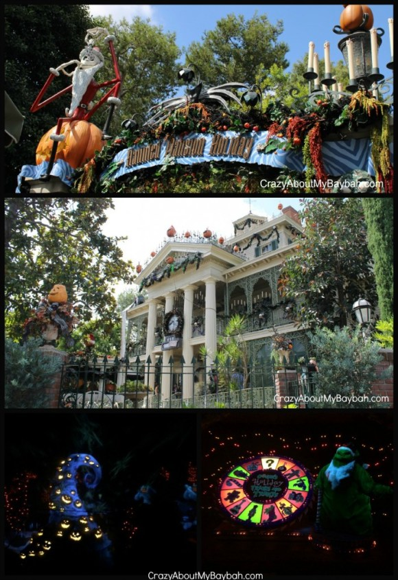The Haunted Halloween Mansion at Disneyland's Halloween Time